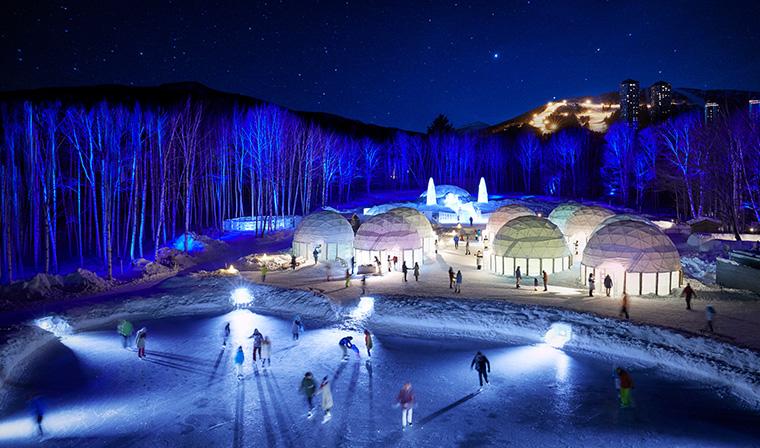 Paket Wisata Tour Ke Jepang Winter Di Sapporo Hokkaido Dengan Mobil Pribadi - Ice Village In Tomamu Winter Resort